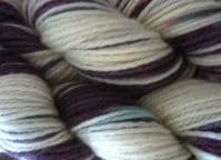 Apples And Pears BFL DK - Purple dip with a little blue